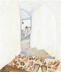 socques a l'entrée du harem by jellal ben abdallah