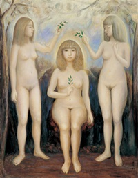 three graces by lin wenqiang