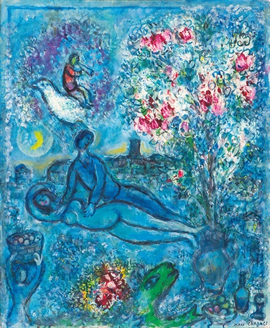 les amandiers esquisse by marc chagall