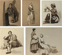 studies of figures in various positions by willem pieter hoevenaar