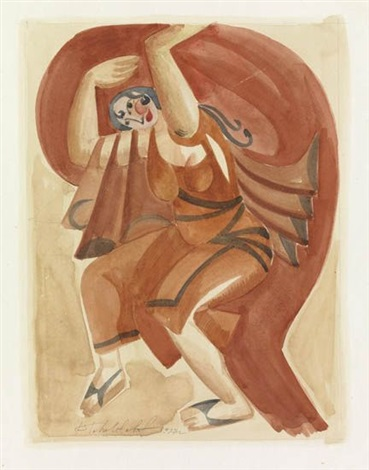 woman dancing by pavel tchelitchew