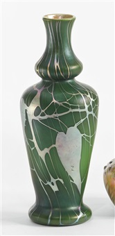 decorated vase by steuben glass