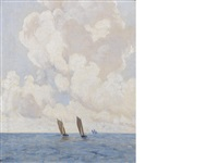 boats at sea by paul henry