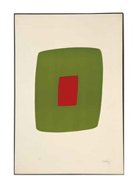 green with red (+ 2 others; 3 works) by ellsworth kelly