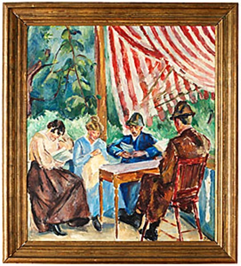 sällskap på veranda by birger simonsson