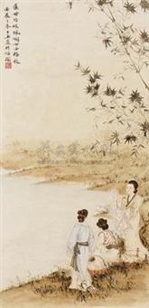 浣纱图 by deng ziyu