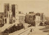 avignon, palais des papes, 1852 by charles nègre