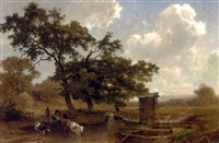 pastoral idyll by joseph quinaux