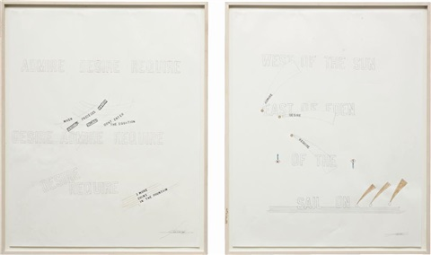 admire desire require i ii in 2 parts by lawrence weiner