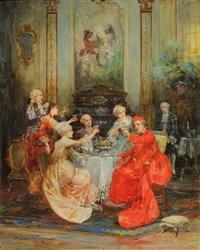petite fête avec le cardinal by cipriano mannucci