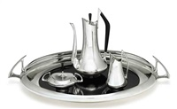 coffee service (set of 4) by donald colflesh