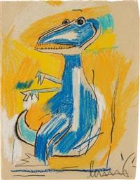 untitled (dinosaur) by jean-michel basquiat