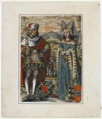 rudolphus ii. - bl. 66 der 80 blatt umfassenden folge der icones ducum bavariae by georg mack the elder and jost amman