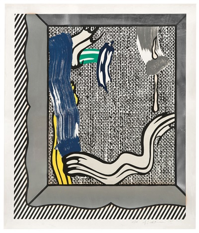 painting on canvas from paintings series by roy lichtenstein