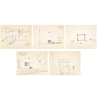 art as architecture of de stijl (studies) (+ 2 others; 3 works) by frederick j. kiesler