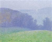 prairie aux arbres bleus by charles frechon