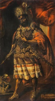 portrait of moctezuma ii by mexican school (17)