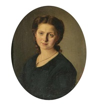 a portrait of a girl by josef huttary