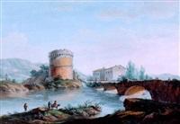 vue du tombeau de plautius à tivoli by simone pomardi