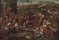kreuztragung christi mit simon von kyrene, den beiden schächern, den frauen von jerusalem und vielen weiteren personen (1684) by pierre mignard the elder