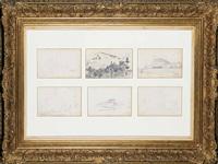 paisajes (6 works) by josep (josé) cusachs y cusachs