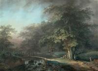 paysage de rivière by johann georg volmar