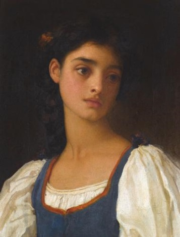 nicandra (study) by lord frederic leighton