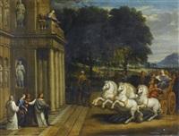 scène tirée de l'histoire d'une sainte, probablement sainte bérénice by french school (17)
