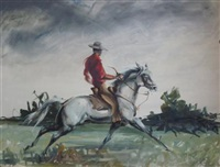 the cowboy by john rattenburyskeaping