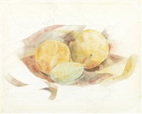 peaches and fig by charles demuth