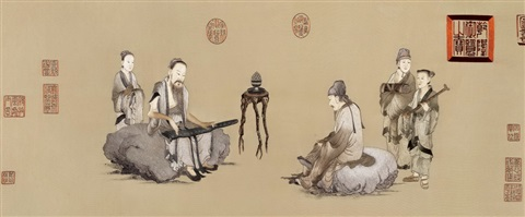 bo ya playing the zither directed by wang zushi by wang zhenpeng