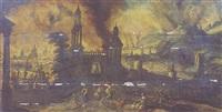 l'incendie de la ville de troie by kerstiaen koninck