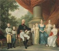 portrait de la famille impériale d'autriche by josef kreutzinger