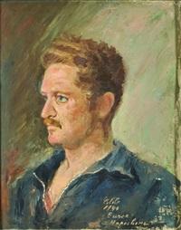 nazim hikmet portresi (+ kemal tahir portresi, verso) by celile hikmet