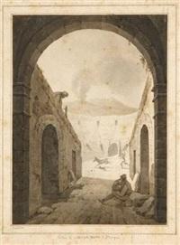 entrée de l'amphithéâtre de pompei by le riche (leriche)