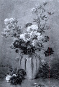 nature morte aux roses by gustave bienvetu
