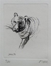 tiger by henry moore