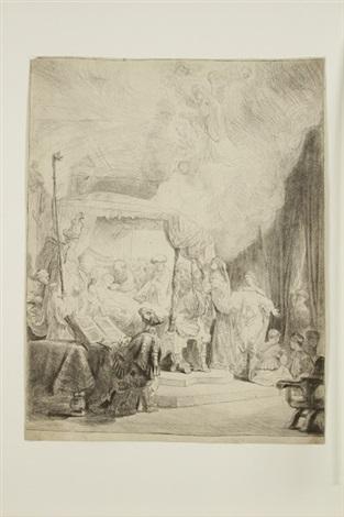 la mort de la vierge by rembrandt van rijn