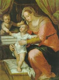 madonna mit kind und einem engel by giovanni (il cosci) balducci