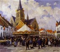 la kermesse au village by wilhelm bataille
