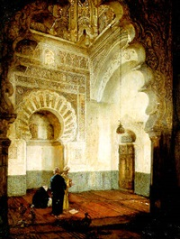 figures in a mosque by heinrich maria staackmann