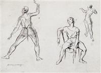 dance studies, de basle ballet by sir daryl ernest lindsay