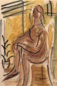 sitzender frauenakt by alexandre rochat