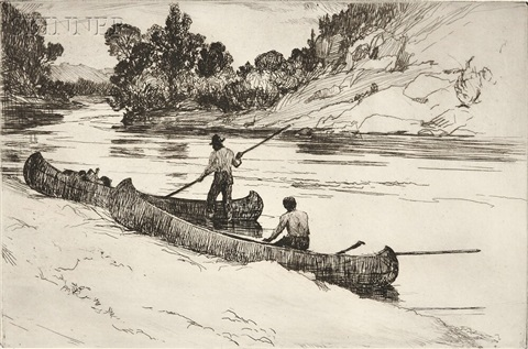 on the kedgwick (2 works) by frank weston benson