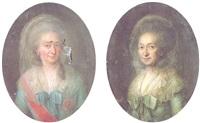 portrait of luise friederike, duchess of mecklenburg-schwerin by christian friedrich reinhold lisiewski