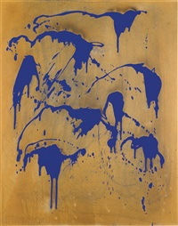 untitled fire colour painting (fc 28) by yves klein