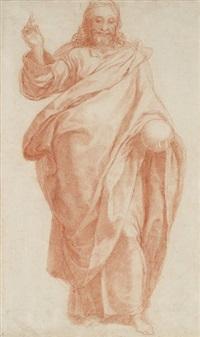 christ bénissant et tenant un globe terrestre by girolamo muziano