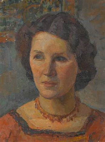 portrait of marg lawson by ernest lawson