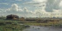 the reed cutters, kortenhoef by willem roelofs
