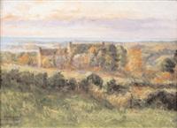 paysage des environs de trébeurden by albert baure